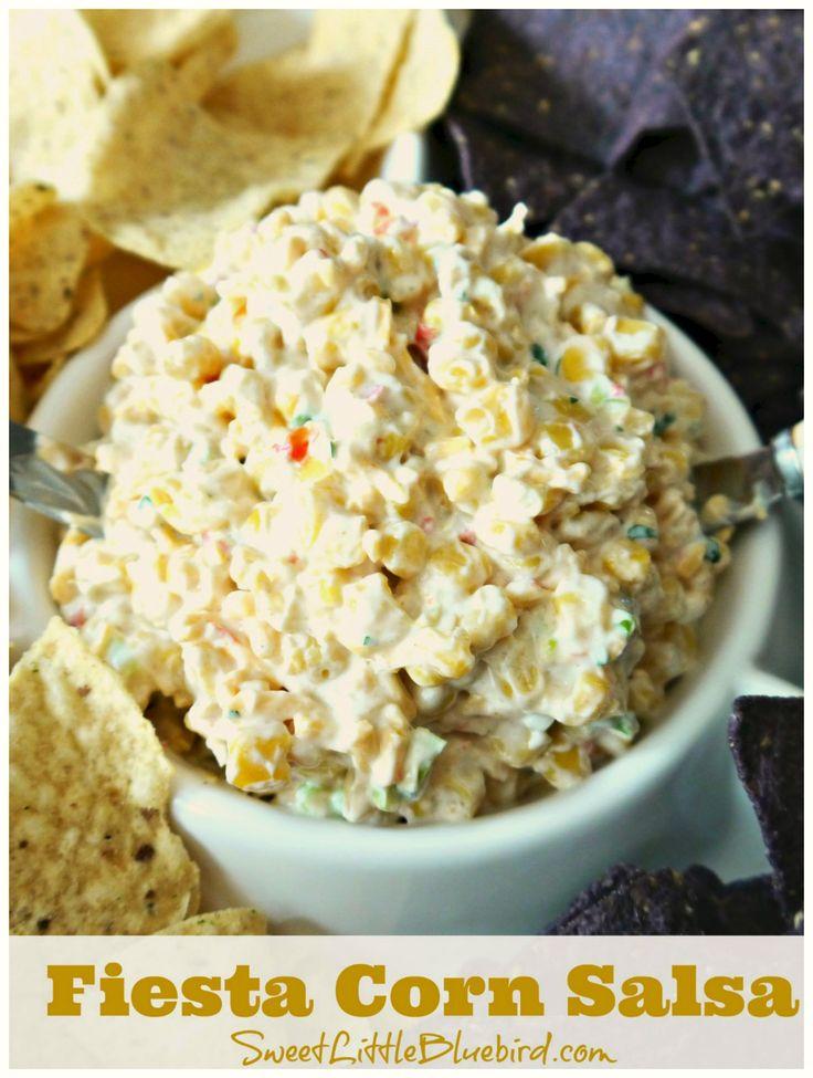 parties! {Fiesta corn, mayo, sour cream, cheddar cheese, green onion ...