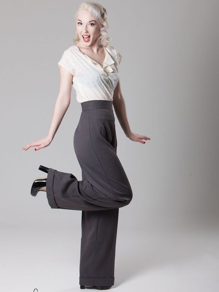 More Forties Inspired Flair: Heyday Vintage-inspired 1940s-Style Ladies Swing Trousers
