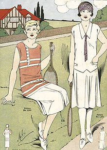 Tennis costume pattern from 1926. Photograph: Amoret Tanner/Alamy