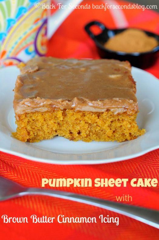INCREDIBLE Pumpkin Texas Sheet Cake - a must make!!! #fallbaking #pumpkin #pumpkincake