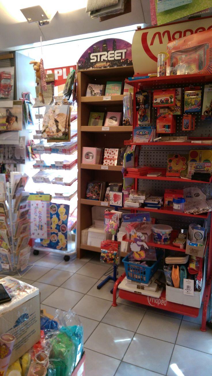 Inside - BA-RA Stationery shop.  Hungary, Budapest Visit: www.ba-ra.hu