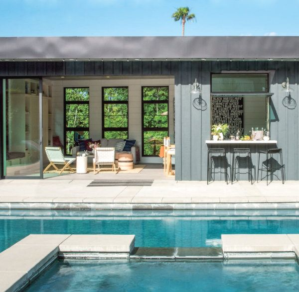 One Gorgeous Pool House Pool Houses Modern Pool House Pool