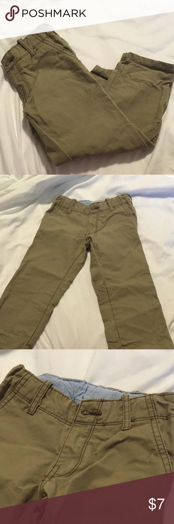 Tan jeans Tan jeans like new, hardly used. Has elastic band for skinny kids. Carters Shirts & Tops