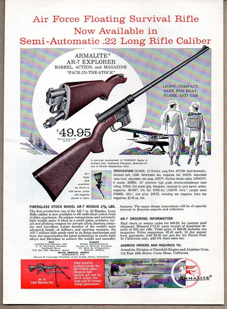 Armalite survival .22. Now made by henry Rifles