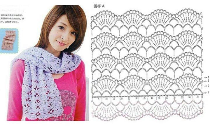 11 best cuellos images on Pinterest | Bufandas, Ganchillo crochet y ...
