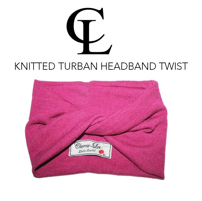 CL Cranberry chunky Knitted Turban headband
