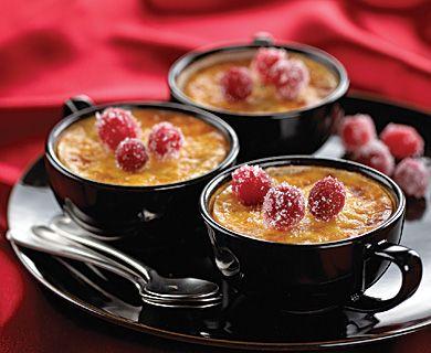 Cranberry Mascarpone Pots de Crème with Tre Stelle® Mascarpone  #mascarpone #dessert #recipe