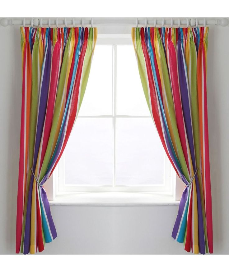 Buy ColourMatch Kids Stripe Blackout Curtains 168 X