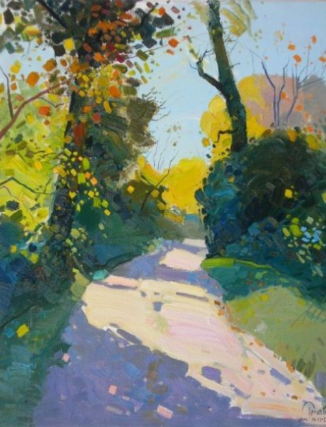 """Pathway in Vain forest\"", 2009, 74 X 60 Cm, Oil - Pashk Pervathi"