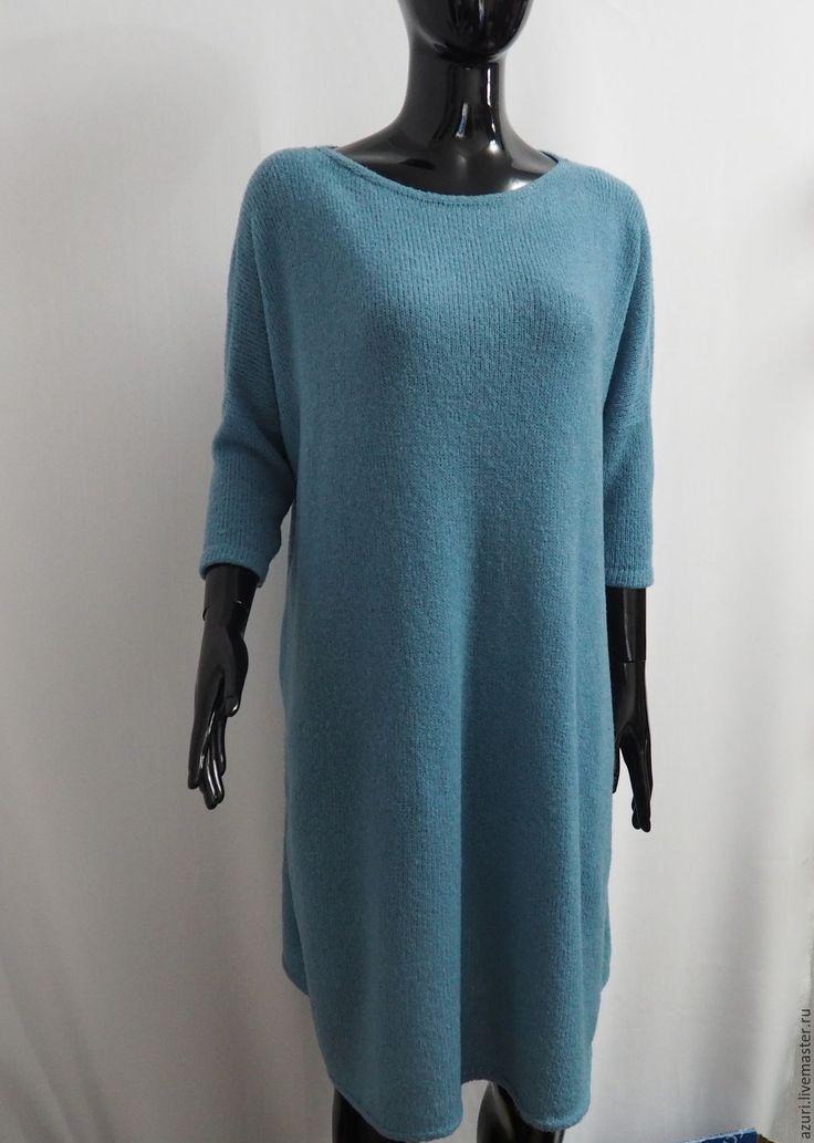 Купить Платье свободное - платье вязаное, Платье красивое, свитер-платье, платье-туника