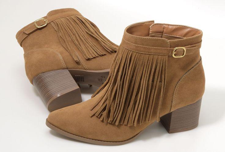 boots - bota - bota de cano curto - franjas - Inverno 2016 - Ref. 16-6501