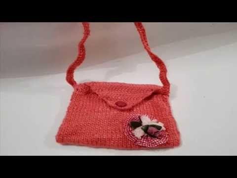 KNIT A BAG FOR A GIRL / CARTERA TEJIDA PARA NIÑA
