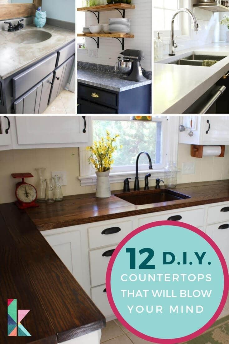 12 Diy Countertops That Will Blow Your Mind Designertrapped Com Diy Countertops Replacing Kitchen Countertops Countertop Makeover