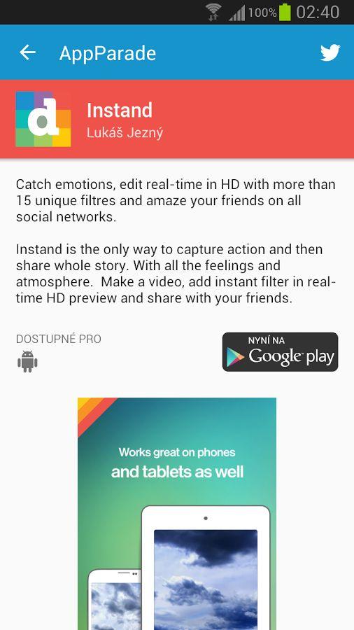 AppParade– скриншот