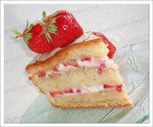 Воздушный крем для украшения торта