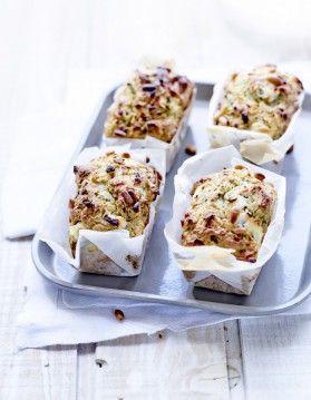 Mini-cakes chèvre-roquette
