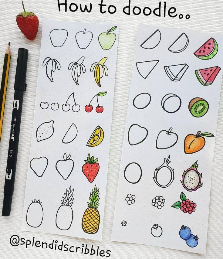 60 So kritzeln Sie Tutorials für Ihr Bullet Journal – #Bullet #Doodle #Journal #Tutorials #zeichnen