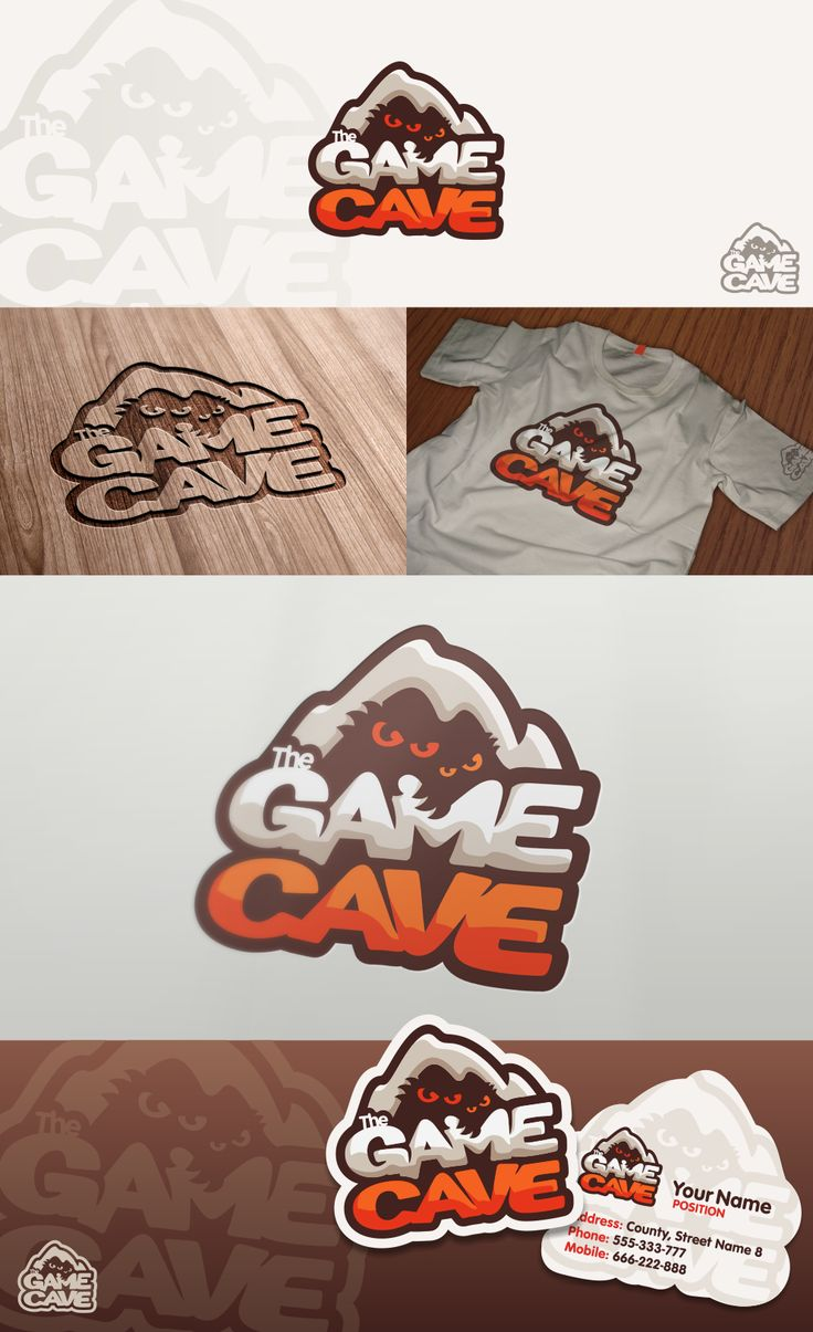 Logo design for The Game Cave by pixelmatters