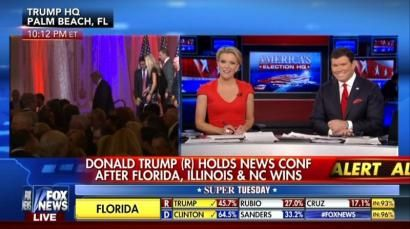 03-15-2016  Megyn Kelly Hits Back at Trump Over Media Criticism, Cites Hordes of Free Media Airtime