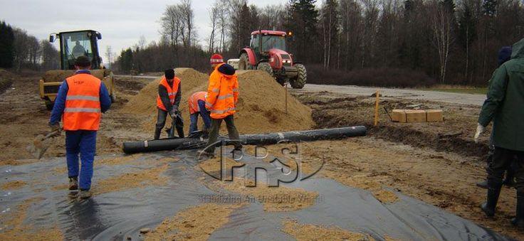 Road Construction - Pavement Reinforcement  #roadconstruction #pavement #PRSMED