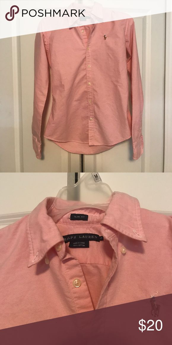 Ralph Lauren Slim Fit Button Down Perfect condition Ralph Lauren slim fit button down. No signs of wear and ready for summer use! Ralph Lauren Tops Button Down Shirts