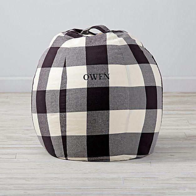 Small Personalized Buffalo Check Bean Bag Chair
