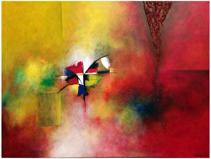 Naam: Brand Afmetingen: 100x70 Extra informatie: handschilderd; acrielverf en oliverf op canvas doek; meegeschilderde zijkanten; direct op te hangen;  gesigneerd.