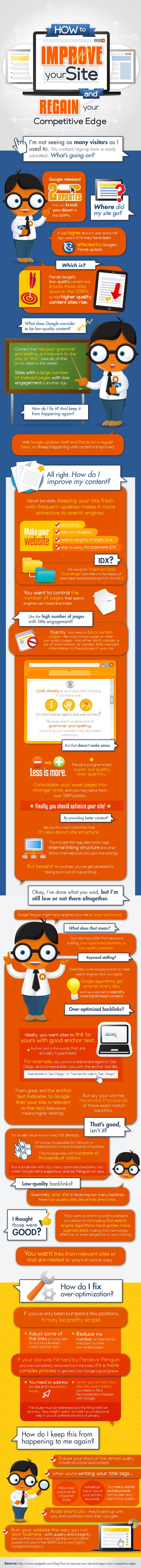 INFOGRAPHIC: How to Improve Your Website and Regain Your Google Traffic - Future Expat