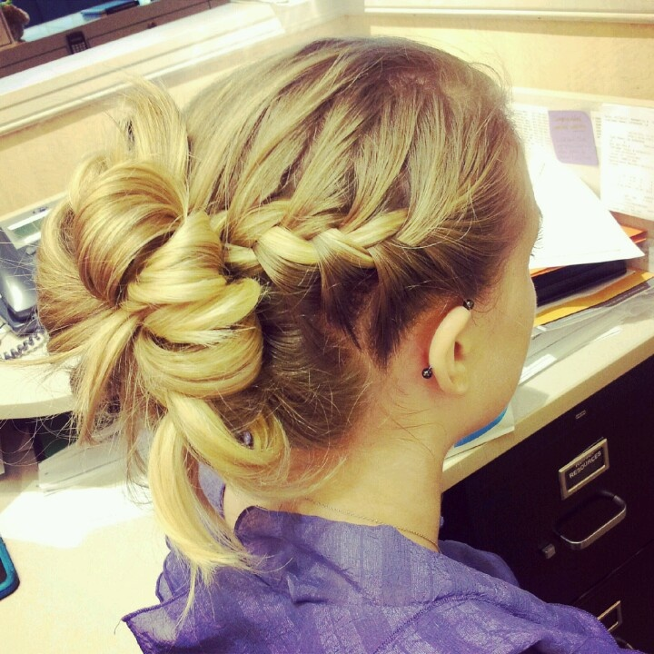Easy five minute hair do
