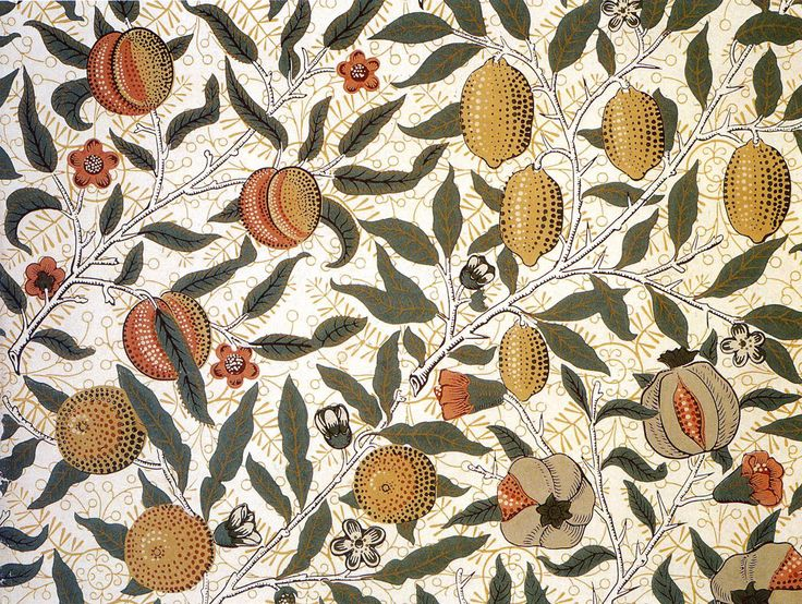 'Pomegranate' Wallpaper Design By William Morris, Produced