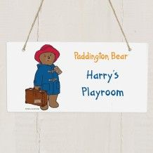 Personalise this cute Paddington Bear wooden sign. Add two lines of text to personalise, perfect for bedrooms, playrooms and the nursery. http://www.middletonwood.co.uk/