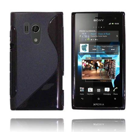 Solid S-Line (Musta) Sony Xperia Acro S Suojakuori