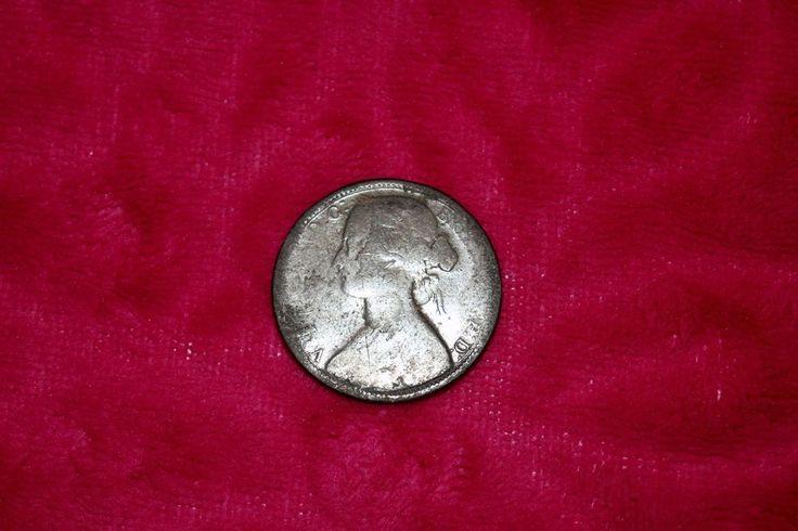 1863 British Victoria bronze Penny Coin