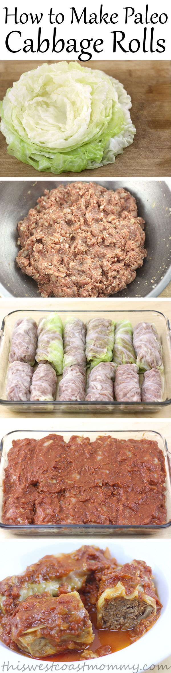 Cabbage rolls are such a comfort food. These paleo cabbage rolls take a while to make, but they're so worth it! Gluten-free, grain-free, and Whole30 recipe.