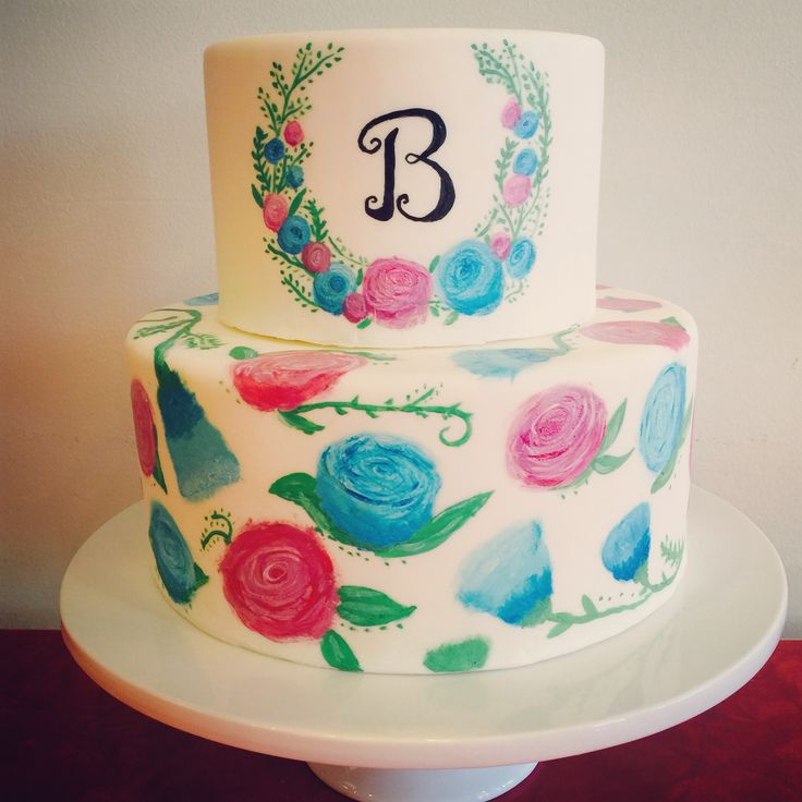 29 best CAKES WITH FLOWER DESIGNS images on Pinterest Flower