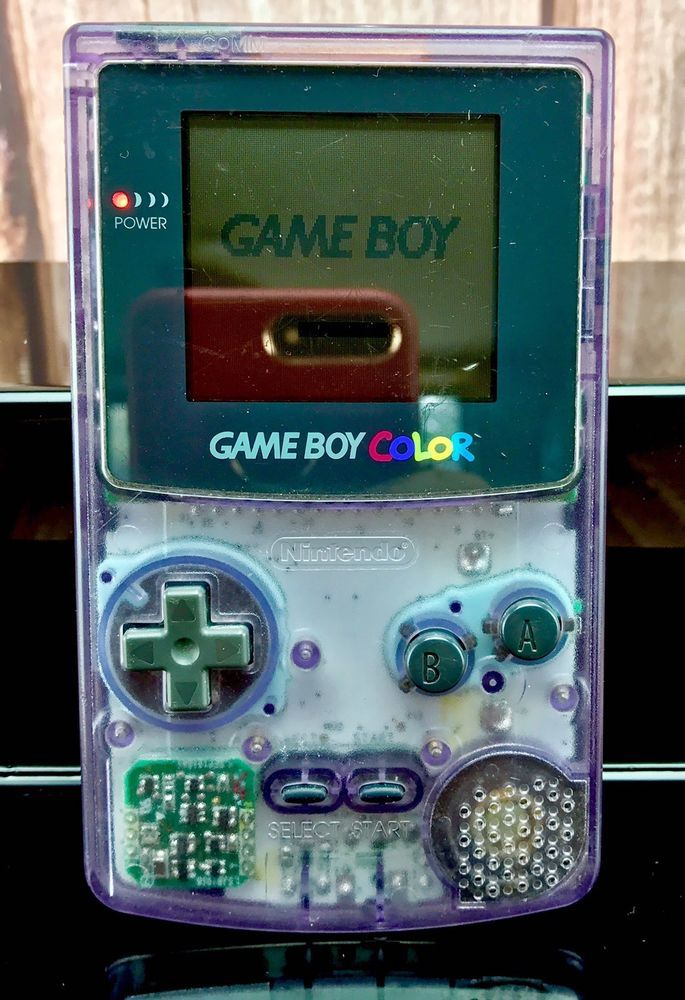 Game boy Colour Crystal Edition Atomic Purple Full Working Order Vintage Retro