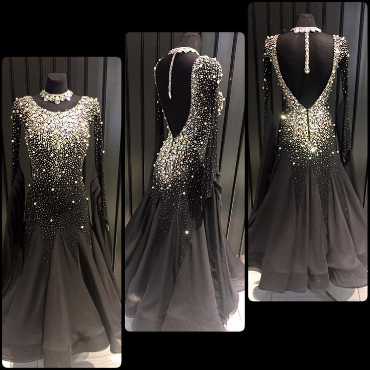 Whoa! Look at all the sparkle! This dress looks so mysterious!