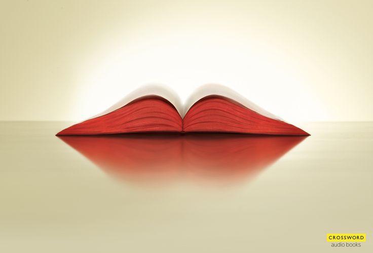 Crossword Audio Books Print Ad - Lips