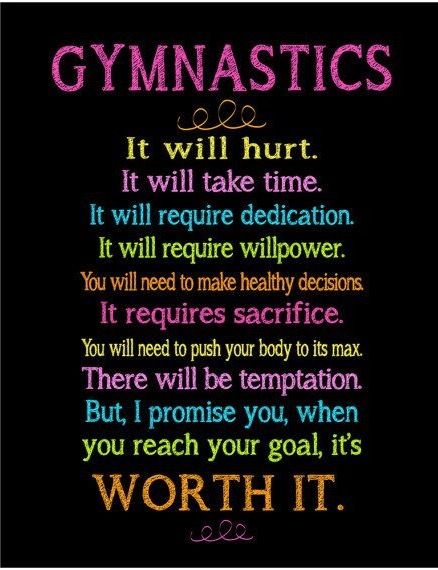 Love this gymnastics quote, very inspiring:)