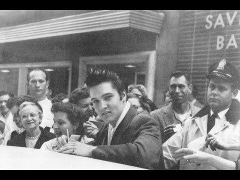 Elvis Presley Ran Out Of Gas Here December 11 1956 Mobbed by Fans The Sp...