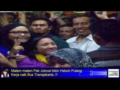 Malam malam Pak Jokowi bikin Heboh Pulang Kerja naik Bus Transjakarta..!!