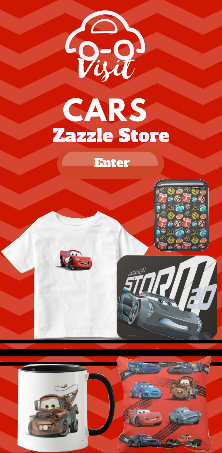 Visit Disney Pixar Cars Zazzle store for many different and unique Cars design on many different Product. Find the design on product like pillow, t-shirt, keychain, iphone case, Samsung case, cups, wallets and more.