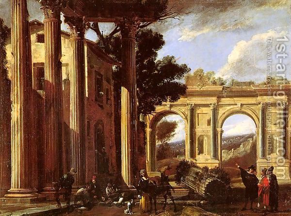 Architectural View 1627 by Viviano Codazzi