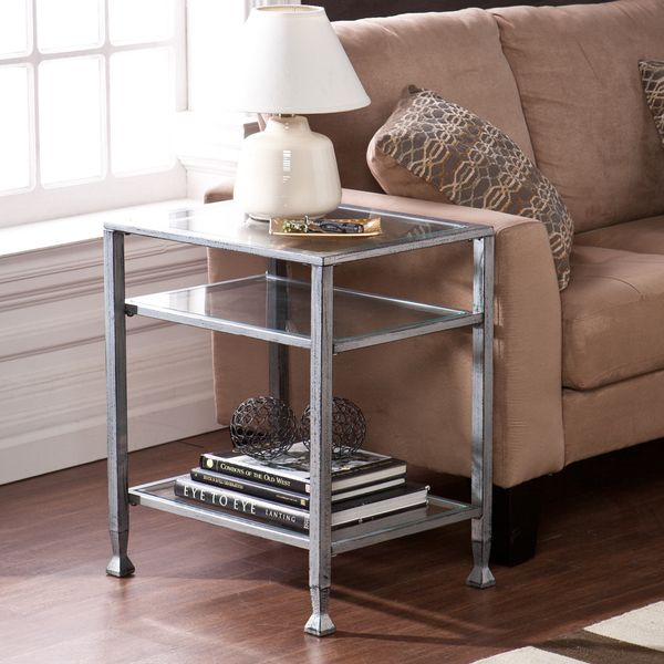 glass end tables for living room. Upton Home Silver Metal and Glass End Table  Overstock Shopping Great Deals on Side TableGlass TablesSilver MetalLiving Room Best 25 end tables ideas Pinterest Gold nightstand