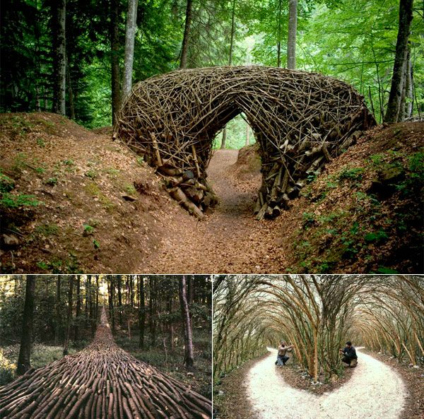 Inspiring environmental art below from Arte Sella, an international exhibition that takes place in the fields and woods of the Sella Valley in Italy.