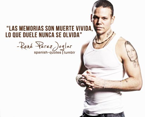"Rene (Calle 13)- LAS MEMORIAS SON MUERTE VIVIDA; LO QUE DUELE ""NUNCA"" SE OLVIDA"
