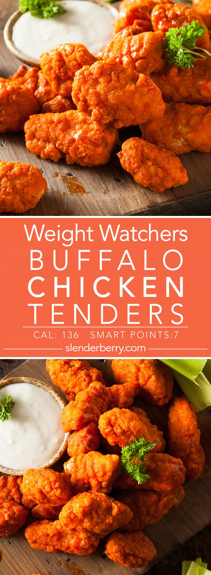 Weight Watchers Buffalo Chicken Tenders Recipe - 7 Smart Points 136 Calories