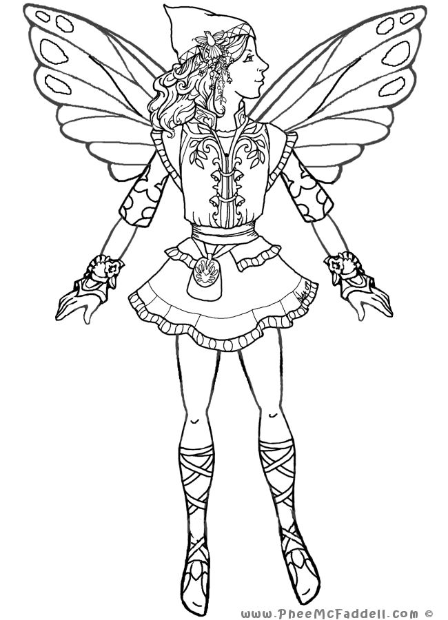 coloring pages of mystical characters - photo#12