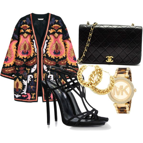 Black Pantha by overdose-onstyle on Polyvore featuring polyvore, fashion, style, Dsquared2, Michael Kors, Chanel, fabulous, fashionblogger and African
