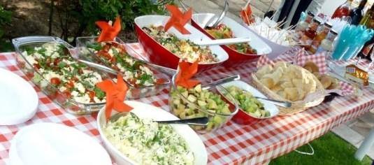 Homemade salad buffet by Anna Wonder